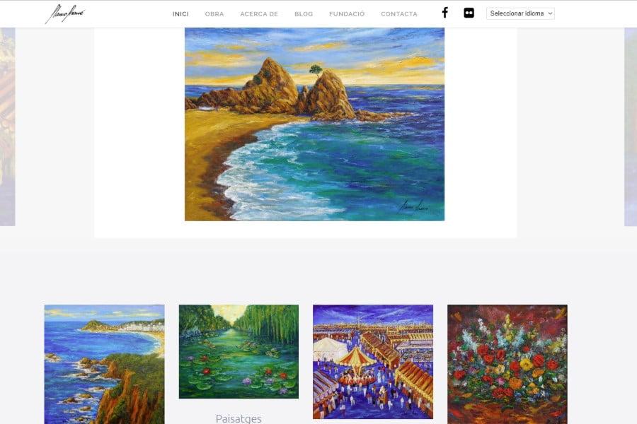 Páginas Web para artistas desarrolladas con WordPress