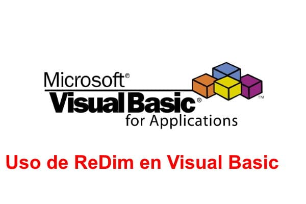 Uso de ReDim en Visual Basic