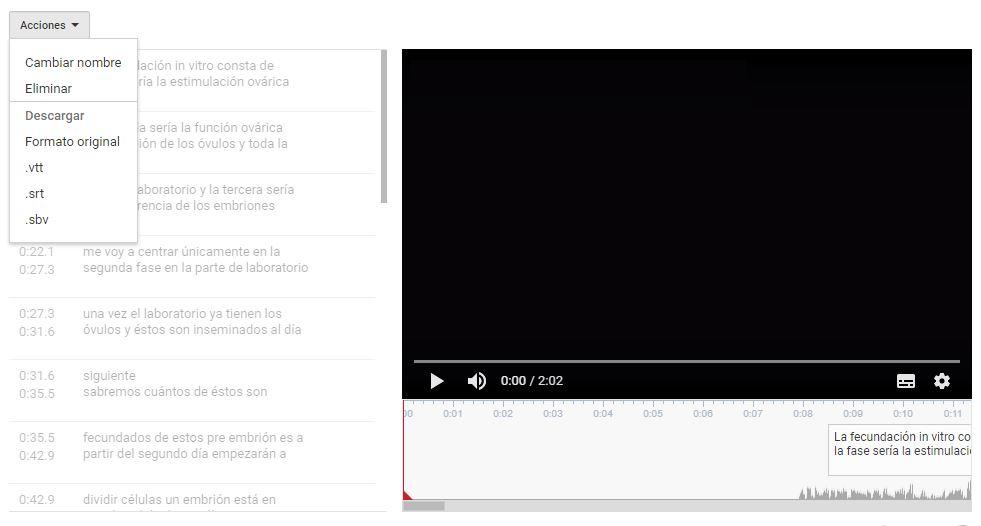 Subtitular vídeos de YouTube